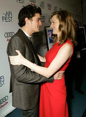 Orlando Bloom and Laura Linney at the Los Angeles AFI Fest screening of Fox Searchlight's The Savages