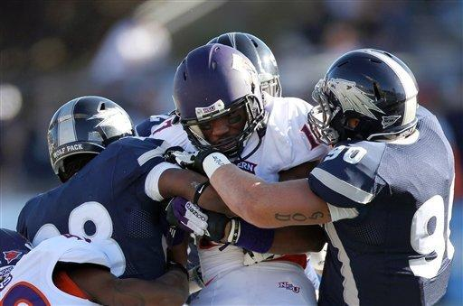 Jefferson leads Nevada by Northwestern State 45-34