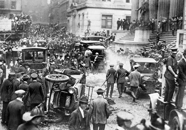 Aftermath of the Wall Street explosion in 1920.