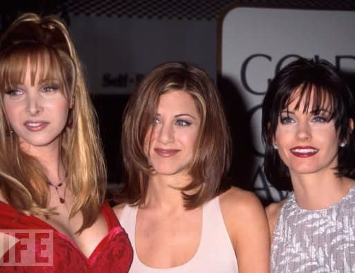 Lisa Kudrow, Jennifer Aniston, and Courteney Cox