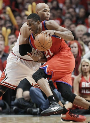 76ers pull away in 3rd, beat Bulls 109-92