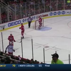 Blue Jackets at Red Wings / Game Highlights