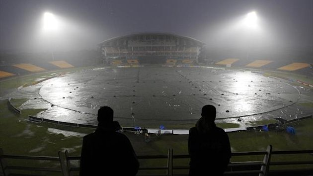 Rain forces a cancellation in Hambantota (Reuters)