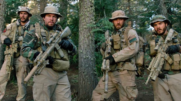 Taylor Kitsch, Mark Wahlberg, Ben Foster and Emile Hirsch in 'Lone Survivor'