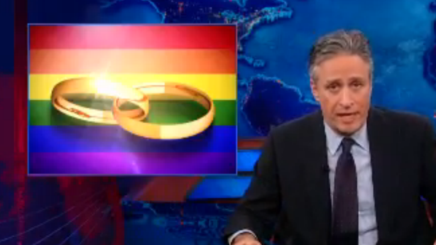 Jon Stewart on Conservatives' Big Gay Marriage Trap