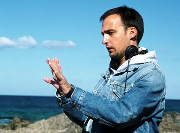 Director Alejandro Amenabar on the set of Fine Line Features' The Sea Inside