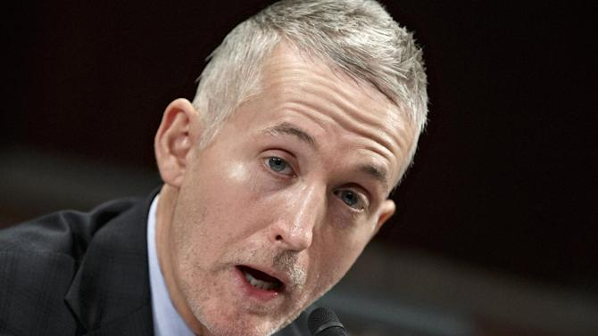 House Select Committee on Benghazi Chairman Rep. Trey Gowdy, R-S.C., demands answers of witnesses  from the State Department and the CIA, as it holds its third public hearing to investigate the 2012 attacks on the U.S. consulate in Benghazi, Libya, where a violent mob killed four Americans, including Ambassador Christopher Stevens, Tuesday, Jan. 27, 2015, on Capitol Hill in Washington.  (AP Photo/J. Scott Applewhite)