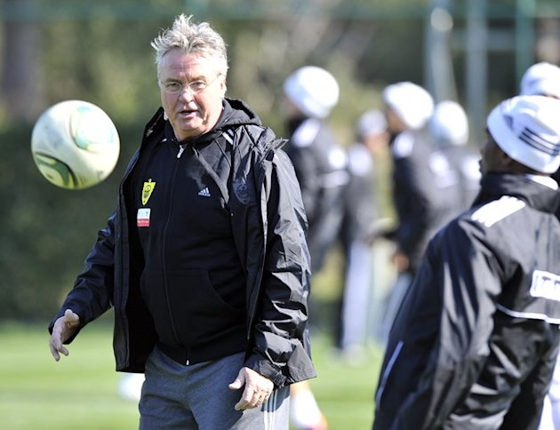 Dutch Football Coaching  Guus Hiddink (L) Stands AFP/Getty Images