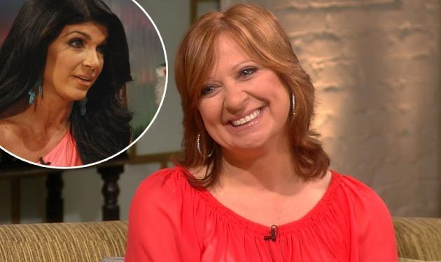 Caroline Manzo stops by Access Hollywood Live on July 10, 2012 / inset: Teresa Giudice -- Access Hollywood