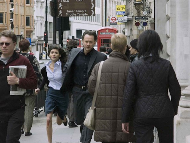 The Da Vinci Code Columbia Pictures Production Stills 2006 Audrey Tautou Tom Hanks