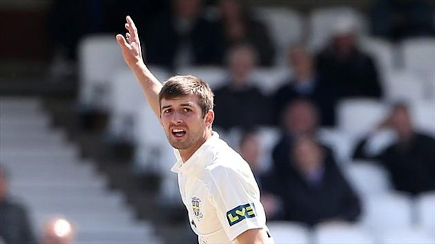 Mark Wood took three wickets in four balls either side of the interval on his way to career-best figures of five for 44