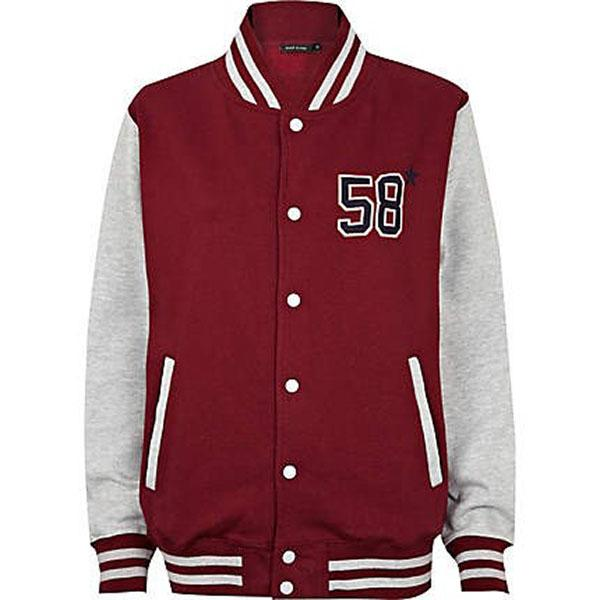 Red NYC Varsity Jacket, $80 at riverisland.com