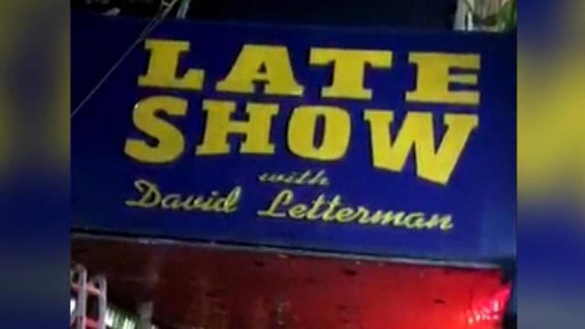 David Letterman's marquee comes down at the Ed Sullivan Theater