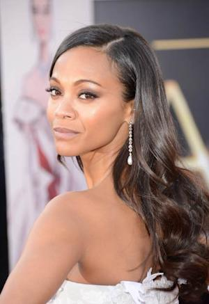 Zoe Saldana poses at the Oscars at Hollywood & Highland Center on February 24, 2013 in Hollywood -- Getty Images