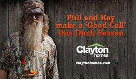 Phil and Kay Robertson Enjoy Duck Hunting Season in a Clayton Home