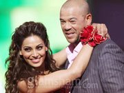 Bipasha shakes a leg with Andrew Symonds at Celebrity Cricket League glam night