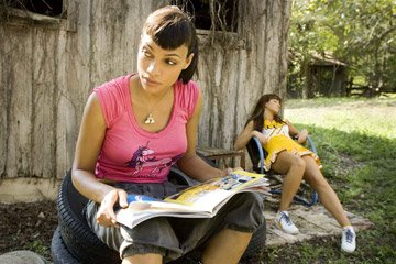 "Rosario Dawson and Mary Elizabeth Winstead in the ""Death Proof"" segment of Dimension Films' Grindhouse"