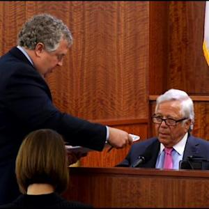 Raw Video: Robert Kraft Answers Defense Questions In Hernandez Trial