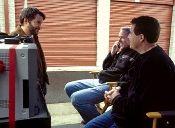 Matthew Broderick , producer David Hoberman and director Jeff Nathanson in Touchstone Pictures' The Last Shot