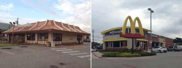McDonald's restaurant exteriors