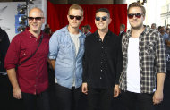 The group Boy & Bear arrive for the Australian music industry Aria Awards in Sydney, Thursday, Nov. 29, 2012. (AP Photo/Rick Rycroft)