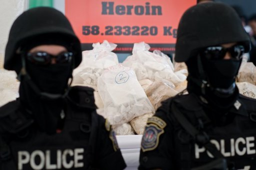 &lt;p&gt;Thai police stand guard over seized drugs in Ayutthaya province in June 2012. The UN&#39;s drugs and crime office launched a new media awareness campaign on Monday to highlight the threat posed by the multi-billion dollar operations run by organised crime groups worldwide.&lt;/p&gt;