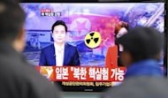 "South Korean passengers watch TV news reporting North Korea's nuclear test at Seoul train station on February 12, 2013. A defiant North Korea on Tuesday staged its most powerful nuclear test yet and warned of ""stronger"" action to follow if the ensuing wave of global condemnation translated into tougher sanctions"