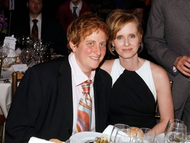 Cynthia Nixon (right) poses …