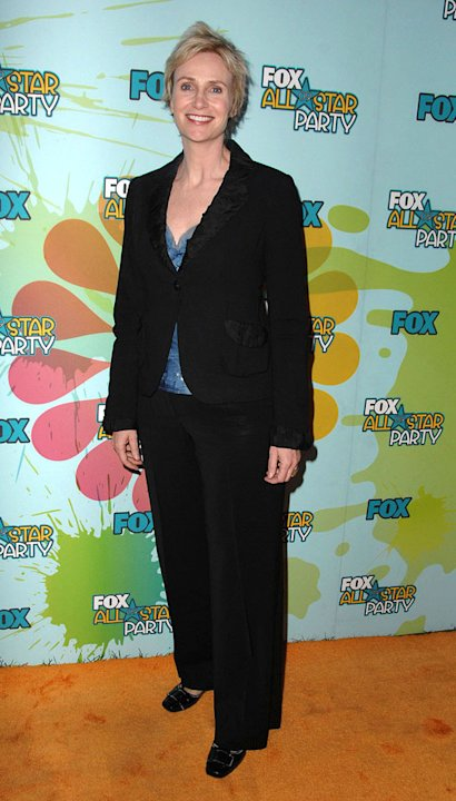 Jane Lynch arrives at the 2009 TCA Summer Tour's Fox All-Star Party at The Langham Resort on August 6, 2009 in Pasadena, California.