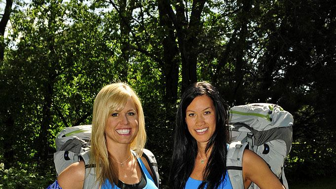 "Best friends Nat Strand (left) and Kat Chang compete in ""The Amazing Race 17."""