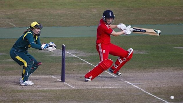 Half-centuries from Heather Knight, pictured, and Sarah Taylor ensured England chased down Australia's 203-4 with 16 balls to spare