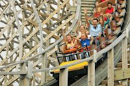 The new wood rollercoaster at Europa Park
