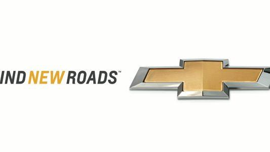 "This image provided by General Motors shows the new Chevrolet slogan and logo. Chevrolet announced Tuesday, Jan 8, 2012 that it is dropping its ""Chevy Runs Deep"" slogan and replacing it with the new tagline ""Find New Roads,"" saying that it's better geared toward drivers outside the U.S. The General Motors Co. brand pointed to its significant overseas expansion over the past several years, noting that it now sells its vehicles in more than 140 markets around the world. (AP Photo/General Motors)"