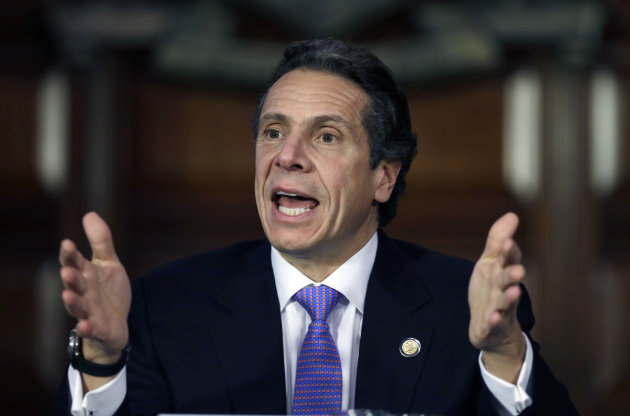 <p>               New York Gov. Andrew Cuomo speaks during a Moreland Commission meeting on utility storm preparation and response in the Red Room at the Capitol on Monday, Jan. 7, 2013, in Albany, N.Y. The powerful Moreland Commission recommends eliminating the state's Long Island Power Authority and replacing it with a private company. The commission says LIPA  was unprepared for Superstorm Sandy, then inept in its response.(AP Photo/Mike Groll)