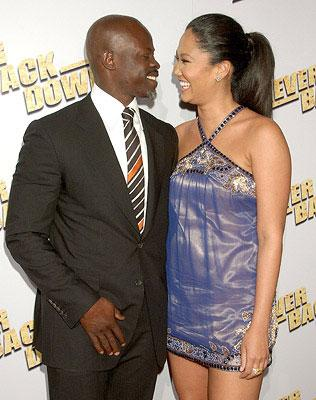 Djimon Hounsou and Kimora Lee Simmons at the Los Angeles premiere of Summit Entertainment's Never Back Down