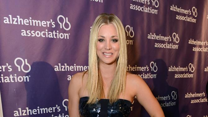 IMAGE DISTRIBUTED FOR ALZHEIMER'S ASSOCIATION - Actress Kaley Cuoco arrives at the 21st Annual 'A Night at Sardi's' to benefit the Alzheimer's Association at the Beverly Hilton Hotel on Wednesday, March 20, 2013 in Beverly Hills, Calif. (Photo by Jordan Strauss/Invision for Alzheimer's Association/AP Images)