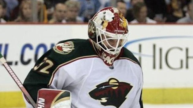 ICE HOCKEY Niklas Backstrom of the Minnesota Wild