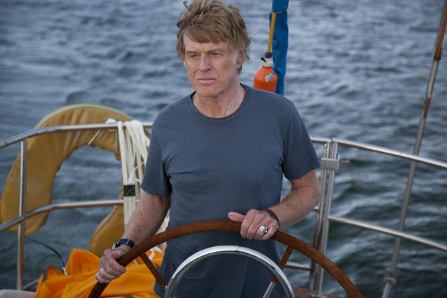 "Robert Redford in ""All is Lost."""