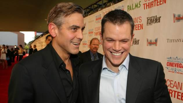 George Clooney and Matt Damon -- Getty Images