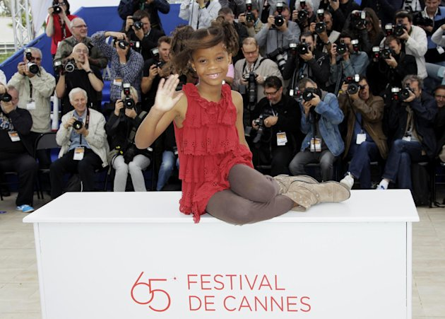 FILE - In this May 19, 2012 file photo, actress Quvenzhane Wallis poses during a photo call for &quot;Beasts of the Southern Wild,&quot; at the 65th international film festival, in Cannes, southern France. Wallis is an actress of talent, poise and maturity well beyond her years. She was 6 when she played the part of Hushpuppy, and at only 9, she is the youngest-ever best actress nominee at the Academy Awards. (AP Photo/Francois Mori, File)