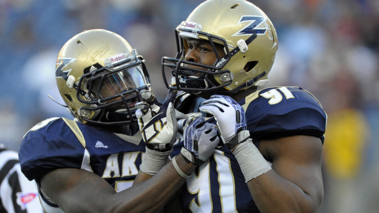 NCAA Football: Akron at Massachusetts