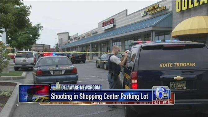 Man shot inside car at shopping center in Bear, Delaware