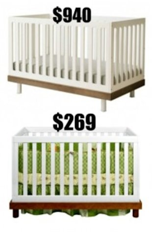 3 Designer Cribs...And Their More Affordable Alternatives