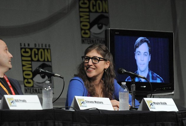 Mayim Bialik attends the &quot;Big Bang Theory&quot; Panel panel at Comic-Con on Thursday, July 12, 2012 in San Diego, Calif. (Photo by Jordan Straus/Invision/AP)