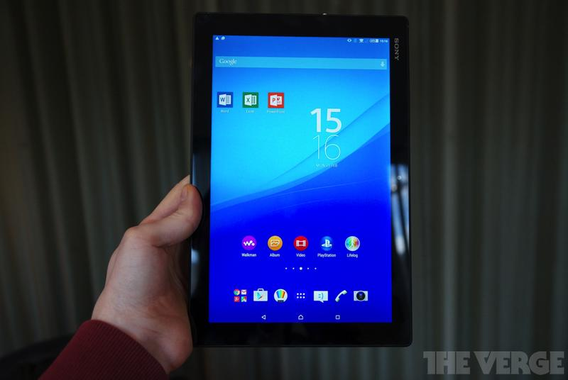 Sony bundles Microsoft's Office for Android apps on its new Xperia Z4 tablet