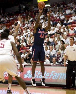 No. 8 Arizona beats Washington State 79-65