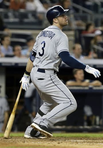 Longoria homers twice, Rays beat Yankees 8-3