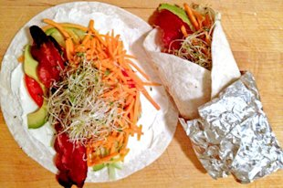 Making your wraps at home will allow you to exercise your own creative juices and also to make healthier choices.