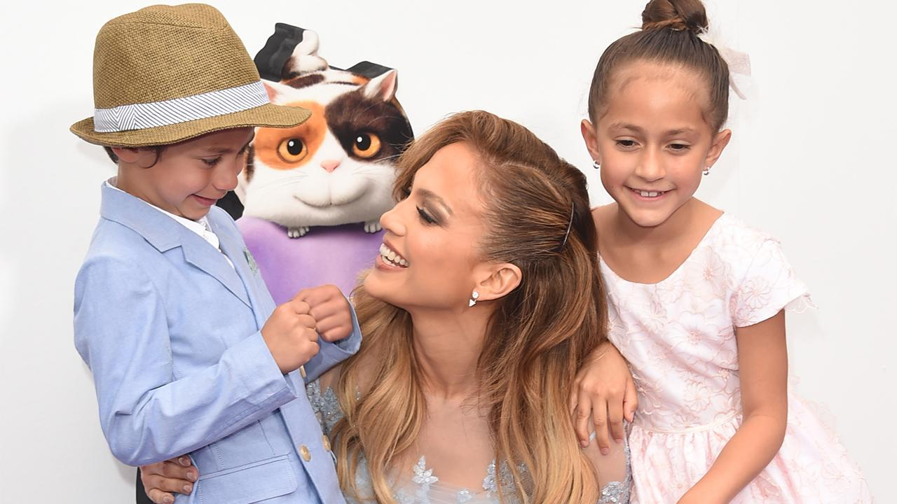 Jennifer Lopez's Twins Support Her In Style as She Returns to Las Vegas