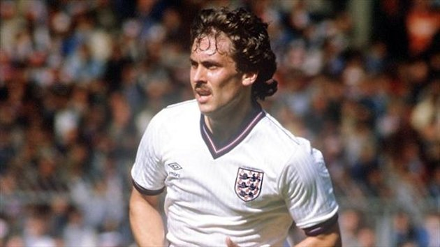 Kenny Sansom pictured playing for England at Wembley back in 1984